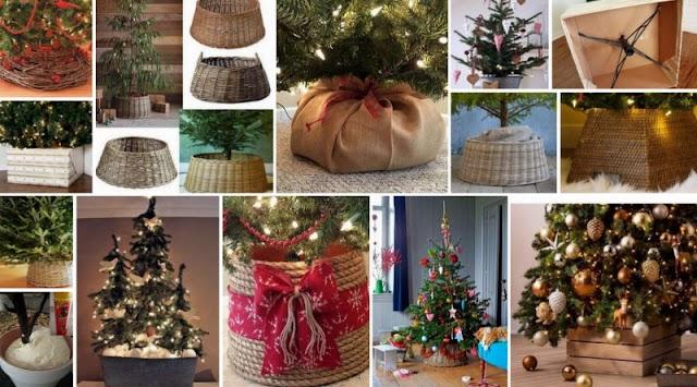 Ιδέες για να καλύψετε την βάση του χριστουγεννιάτικου δέντρου