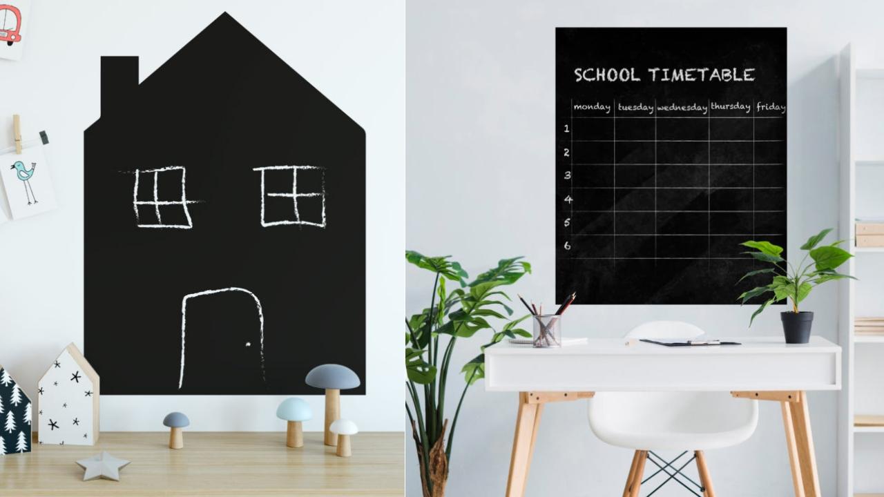 Jak wykorzystać naklejkę z tablicą kredową?