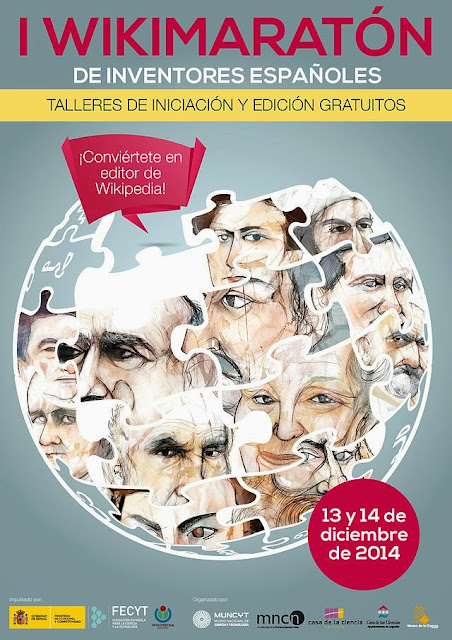 Cartel del I Wikimaraton de inventores españoles