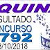 Resultado da Quina concurso 4792 (03/10/2018) ACUMULOU!!!