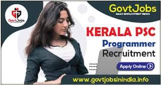 Kerala PSC Programmer Recruitment 2021