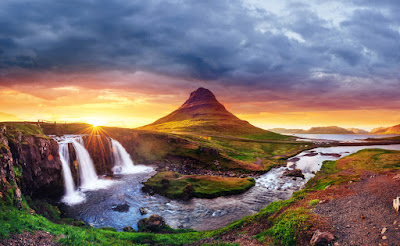 Kirkjufell mountain with waterfall make Iceland a special and beautiful place