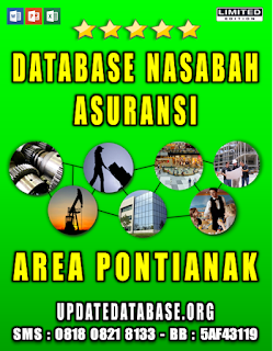 Jual Database Nasabah Asuransi Pontianak