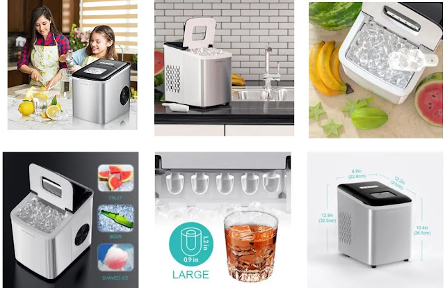 1.  Crownful Portable Ice Maker Machine - Features :