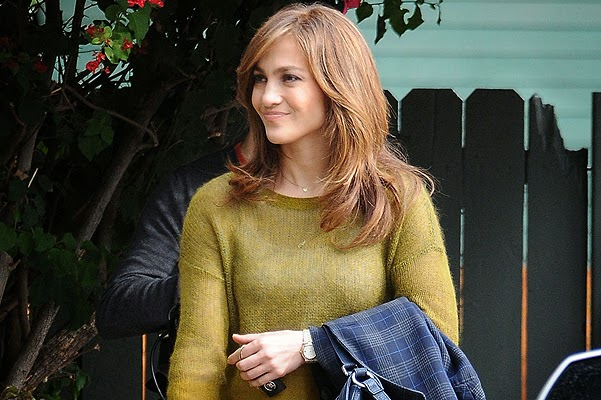 Jennifer Lopez on the set of the movie The Boy Next Door
