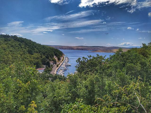 widok z góry na wyspę Krk, Jadranovo, Chorwacja, wyspa, kraj
