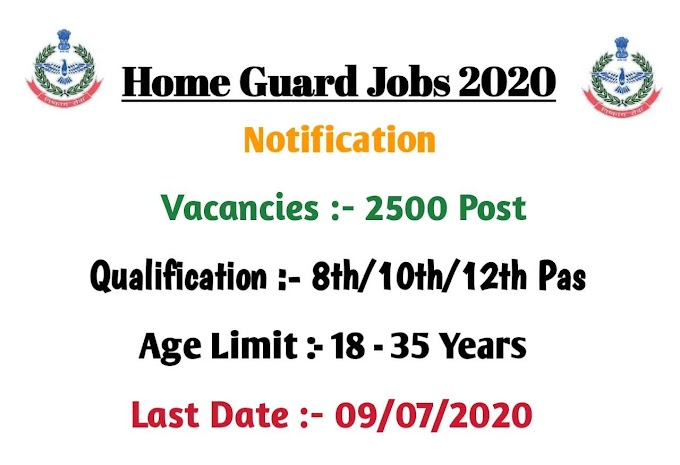 Rajasthan Home Guard Recruitment 2020 Apply Online 2500 Post