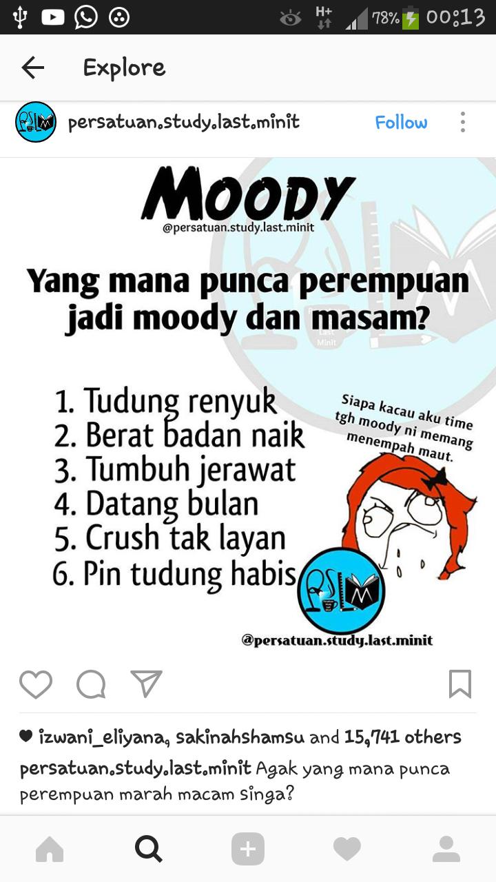 Antara Punca Perempuan Boleh Jadi Moody & Masam