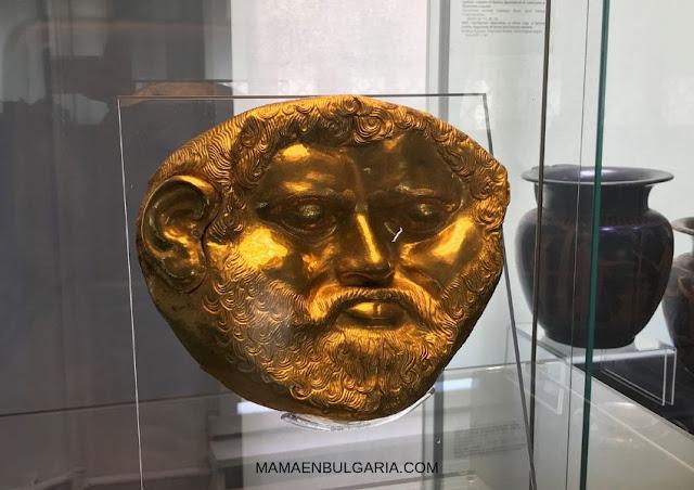 máscara del rey Teres Museo Arqueológico de Sofía Bulgaria