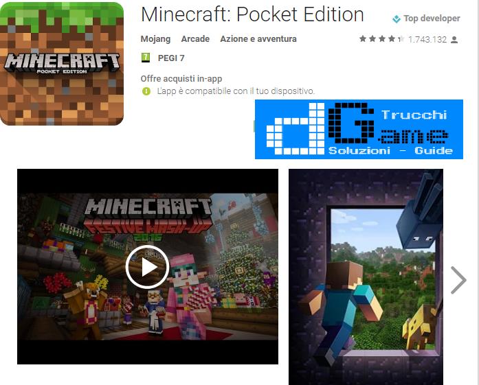 Trucchi Minecraft – Pocket Edition Mod Apk Android v1.0.2.1
