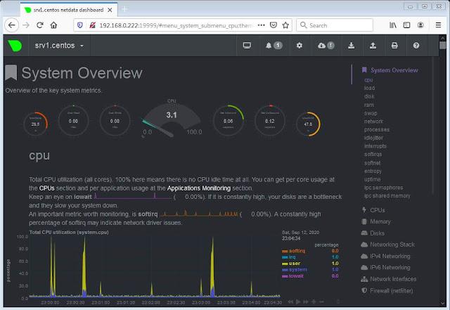 Cara Install Netdata di Centos 8 Server