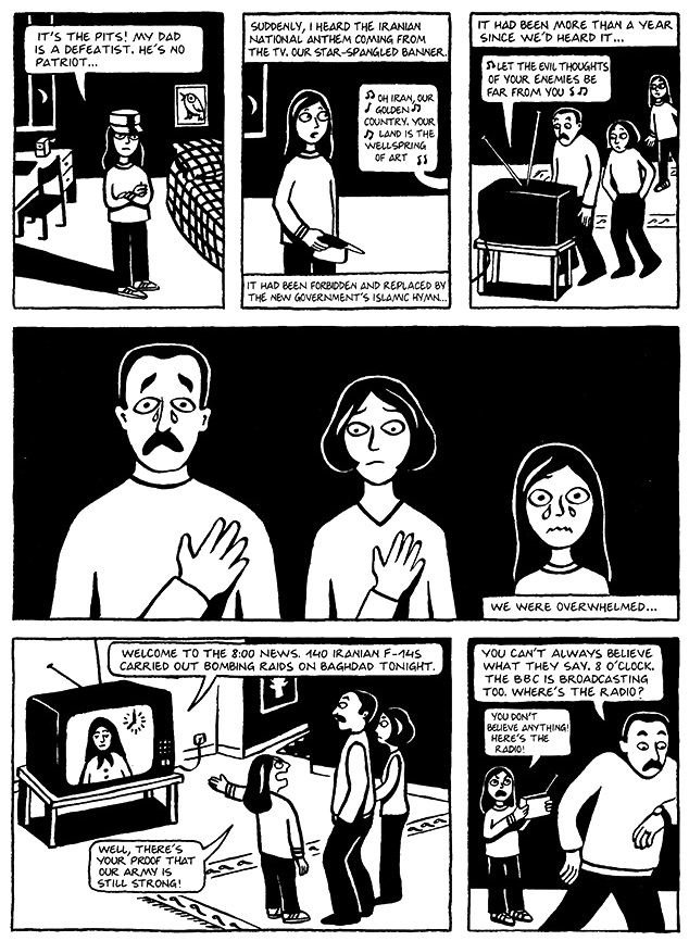 Read Chapter 11 - The F-14s, page 81, from Marjane Satrapi's Persepolis 1 - The Story of a Childhood