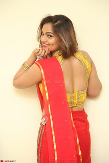 Actress Ashwini in Golden choli Red saree Spicy Pics ~  076.JPG