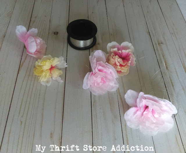 15 minute dollar store peony flower garland