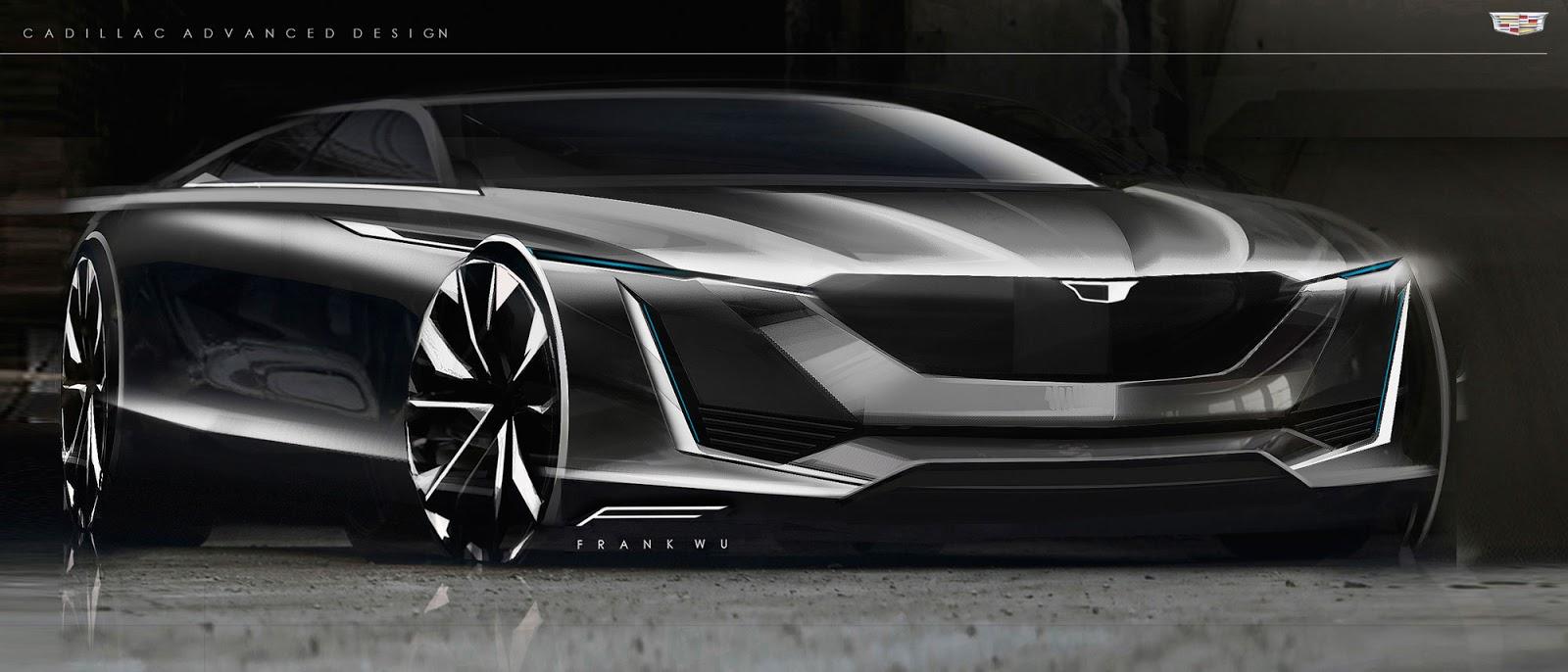 Cadillac Escala concept sketch by Frank Wu