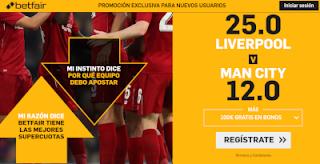 betfair supercuota community shield Liverpool vs Manchester City 4 agosto 2019