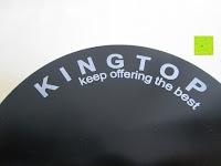 Logo: KingTop Alu Grinder weed,Pollinator,Crusher, grinder 4-Teilig super Größe 3.0zoll/75mm mit Sieb Pollen Scraper Tabak Mühle für Kräuter, Gewürze,Herb,Spice,Tobacco,Kaffee Schwarz