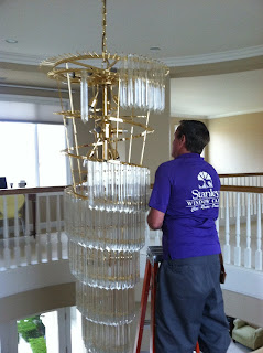 Orange county chandelier cleaning experts at Stanley Window Care