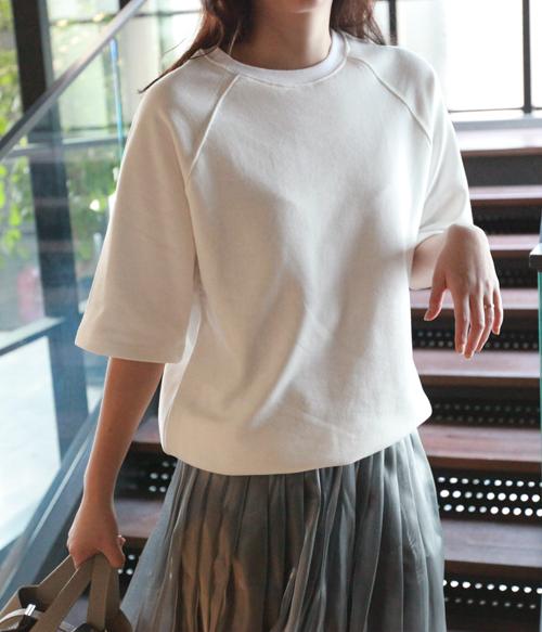 Half Sleeve Raglan Sweatshirt