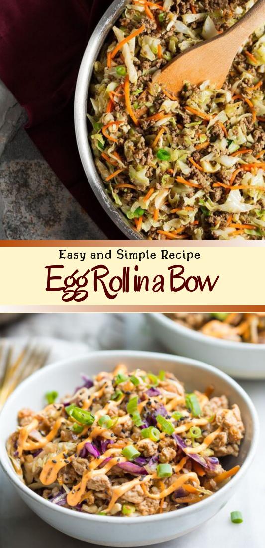 Egg Roll in a Bowl - low carb, gluten free #dinnerrecipe #food #amazingrecipe #easyrecipe