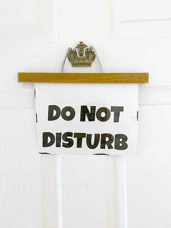 How to Make an Easy DIY Vintage Hanger Do Not Disturb Sign