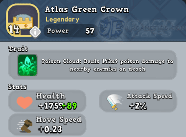 World of Legends Atlas Green Crown
