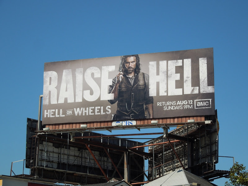 Hell on Wheels season 2 billboard