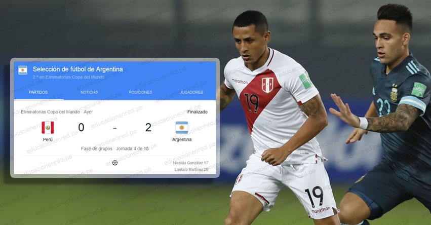 RESULTADOS PERÚ Vs. ARGENTINA: Selección peruana cae 0 a 2 frente a la albiceleste en el estadio Nacional de Lima