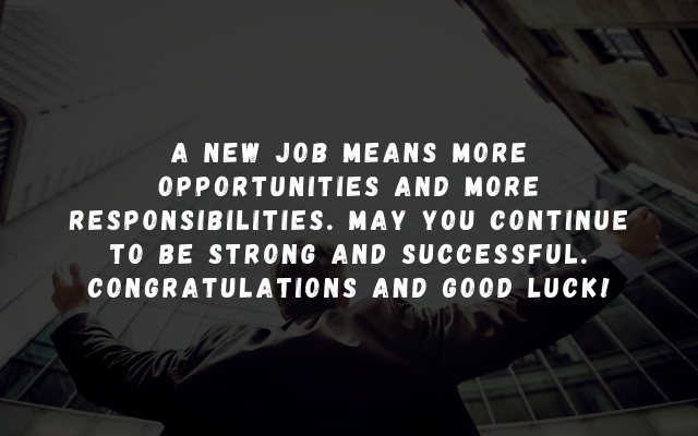 new job wishes messages