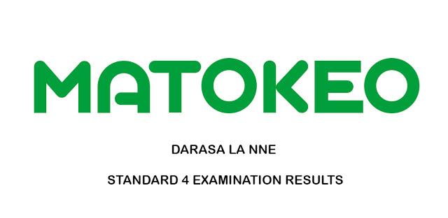 Standard FOUR SFNA Results 2019/2020 (Matokeo Darasa la Nne)