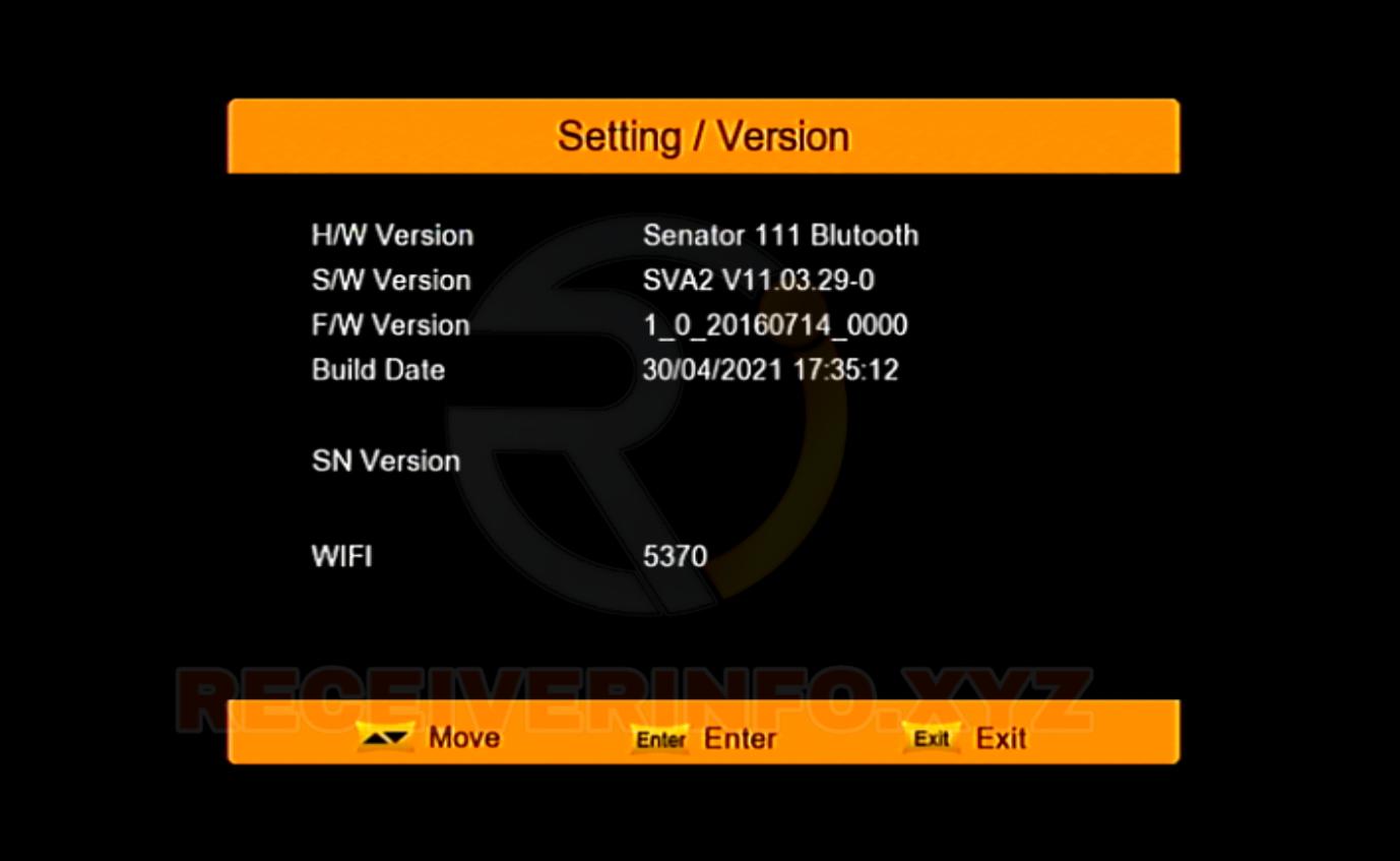 SENATOR 111 BLUTOOTH  1506TV RECEIVER NEW SOFTWARE 2021 SVA2 V11.03.28 UPDATE