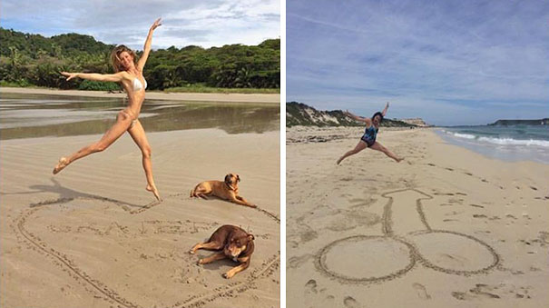 Woman Hilariously Recreates Celebrity Instagram Photos (Part 2) - Living The Dream