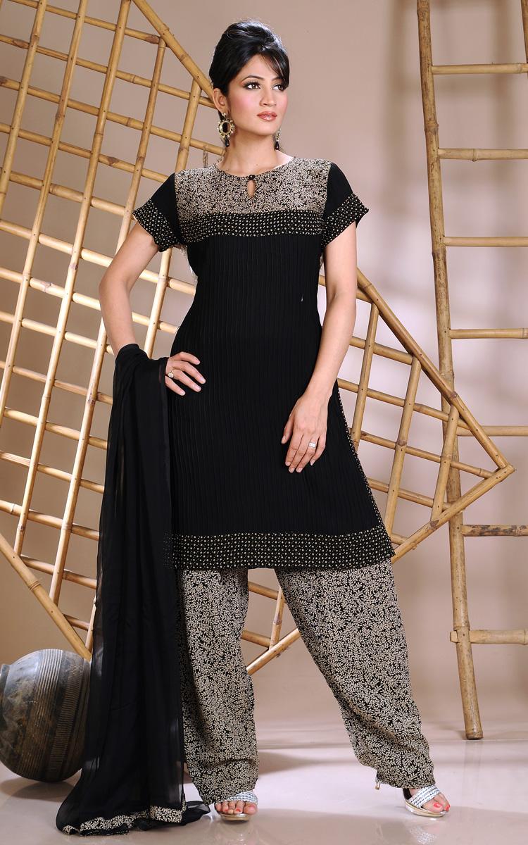 black shalwar kameez design