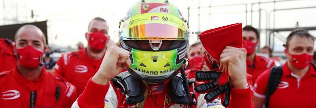Schumacher filho , vence temporada da Fórmula2
