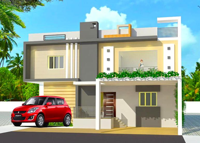 Reflex studio Tamilnadu Modern Home design idea 2045 sq ft