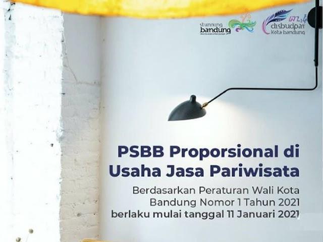 Ini Aturan PSBB Proporsional di Tempat Wisata, Hotel, dan Cafe di Bandung 11 - 25 Januari 2021