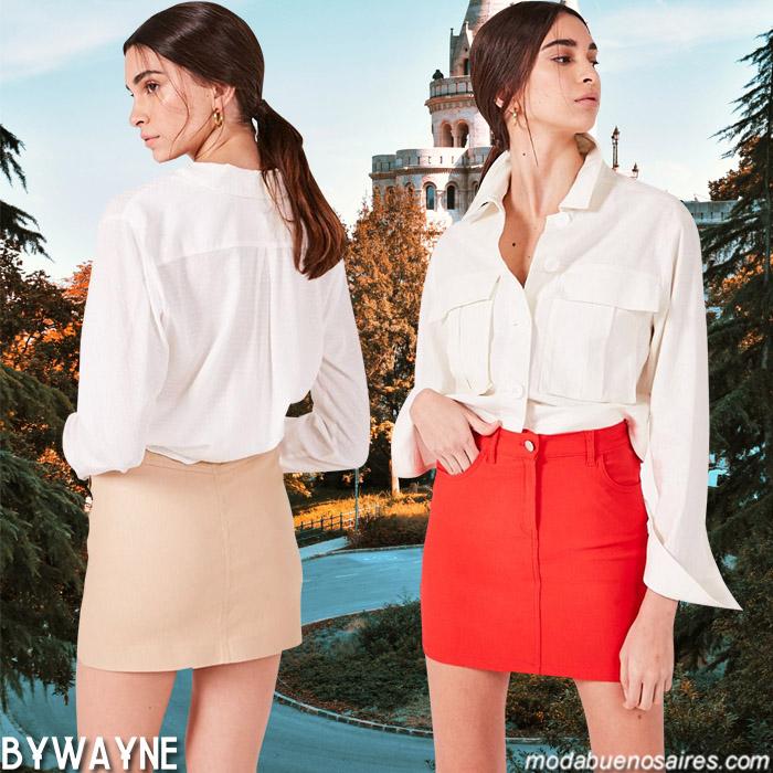 Minifaldas primavera verano 2020. Moda casual urbana primavera verano 2020 ropa de mujer.