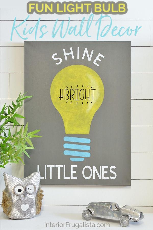 Fun Light Bulb Kids Wall Decor