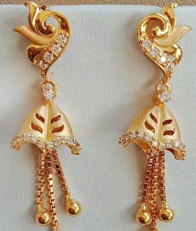 Earring Jhumka Design Gold jewelry Fdbnj