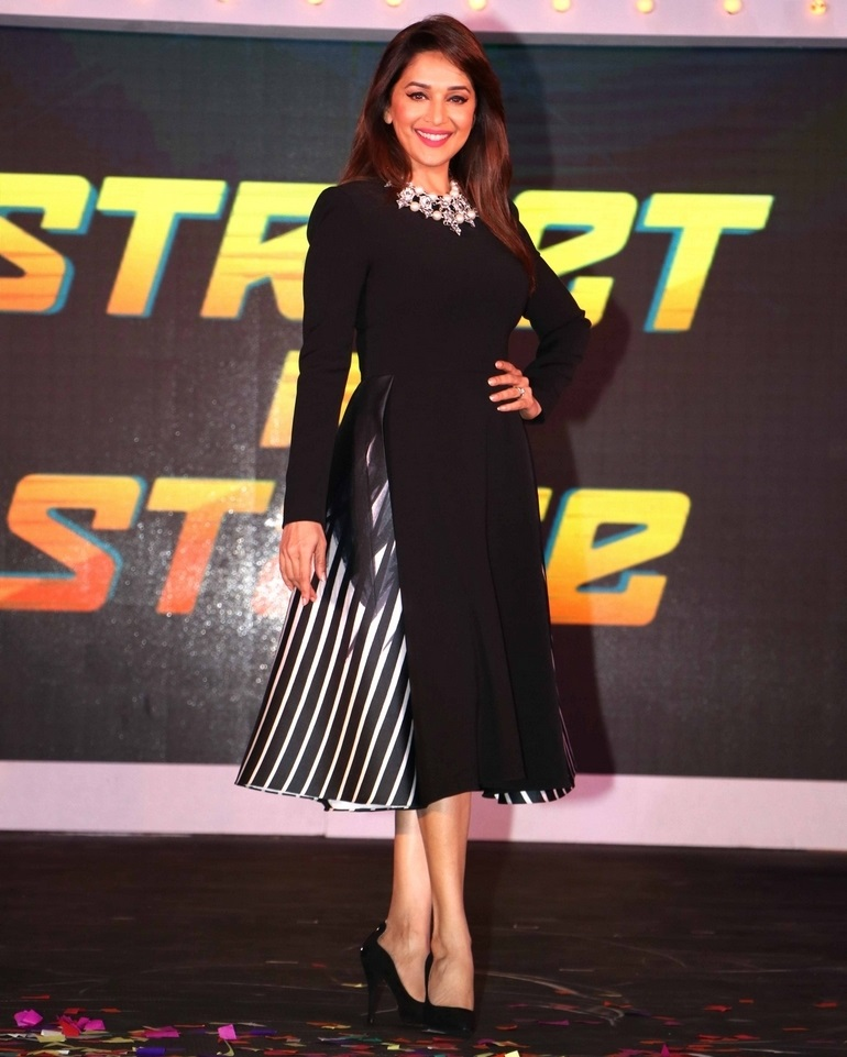 Bollywood Actress Madhuri Dixit Photos In Black Skirt