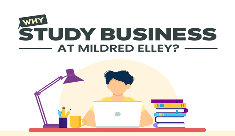 Business Management Programs at Mildred Elley #infographic
