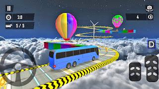 Sky Bus Impossible Stunt Racing Driver - APK Download | Gadi Wala Game | Bus Games