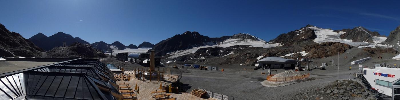Drei Panoramabilder vom Pitztalgletscher