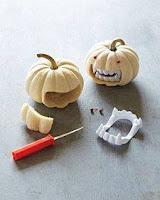 calabazas para hallowee con dientes de dracula