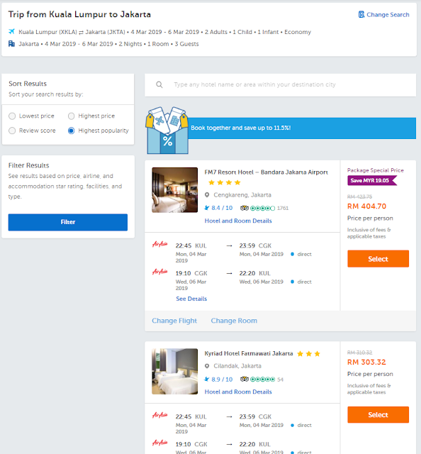 Flight + hotel packages Traveloka