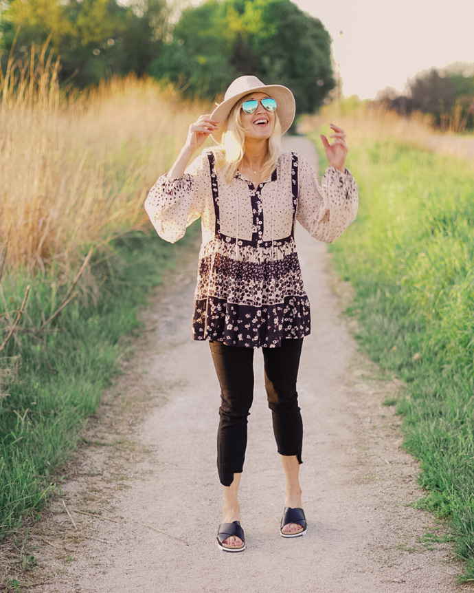what to wear with a boho top