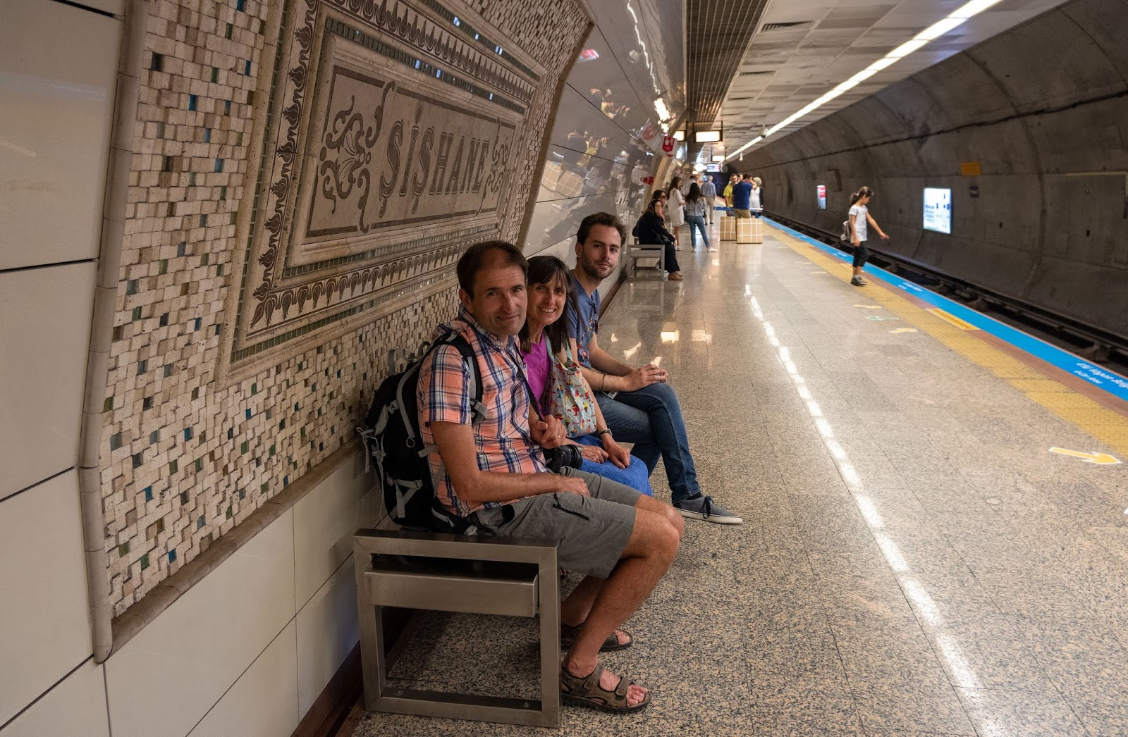 Taking the metro in Istanbul, Turkey