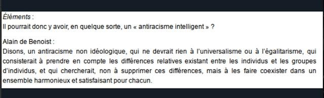 Alain de Benoist antiracisme