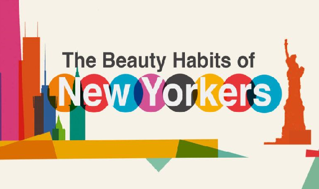 The Beauty Habits of New Yorkers #infographic