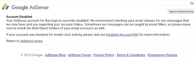 Google adsense notification it will not help you